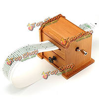 Поделки ручной коленчатые марочные музыкальная шкатулка деревянный шкаф с перфоратором и бумаги