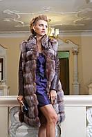 "Шуба из чернобурки ""Камилла"" silver fox fur coat jacket vest gilet, фото 1"