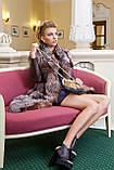 "Шуба из чернобурки ""Камилла"" silver fox fur coat jacket vest gilet, фото 10"