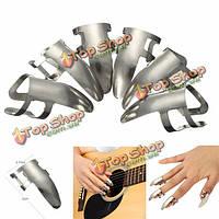 6pc металла нержавеющей стали палец выбрать плектры большой палец выбирает для гитары