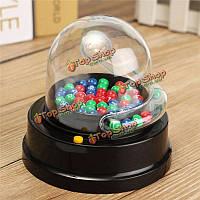 Электрический Счастливое число собирание машина мини лотереи бинго игр трясти повезло мяч