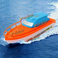Случайный цвет новые электрические скорость гоночной Лодки моторные катера Искупайте ванной дети игра игрушки подарок ребенку
