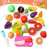 20шт кухня фрукты овощи еда игрушка Набор для резки дети притворяются ролевые игры подарки