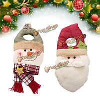 Рождественский Санта-Клаус снеговика мягкая игрушка украшения стены дверь дерево висит