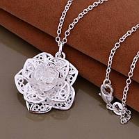 """Женская подвеска """"Роза"""" №2, покрытие серебро 925"""