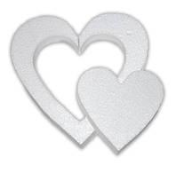 Сердце в сердце пенопласт 15см 200231