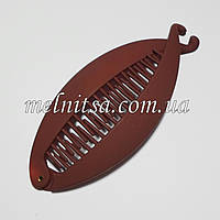 Заколка-банан, 12см, цвет коричневый