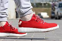 Мужские кроссовки Adidas Yeezy красные