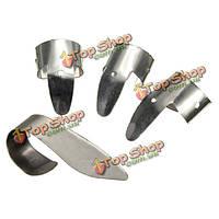 Металл серебро 3 бас палец кирки и 1 палец выбрать ногти гитары медиатором