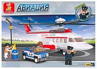 """Конструктор """"Авиация"""", 259 дет., вертолет/машина, в кор. 33*24*5 см (18 шт./ящ.) M38-B0363****"""