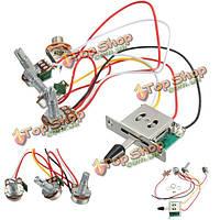 5-позиционный переключатель 500k горшков ручки жгута проводов звукосниматель для гитары Stratocaster страт