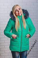 Куртка женская зима удлиненная. Размеры 42 _ 52-54