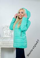 Куртка женская с капюшоном.  Размеры 42 _ 52-54