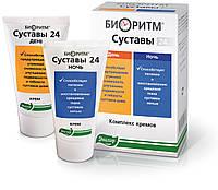 Биоритм Суставы 24 день/ночь компл. кремов тубы №2 по 50мл - Улучшает подвижность и гибкость суставов