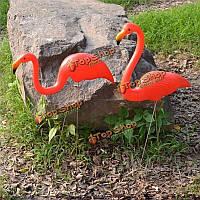 Статуэтка Фламинго садовый красный