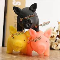 Резины собаки любимчика щенка свиньи форма жевание играть игрушка выборки пищалка скрипучие со звуком
