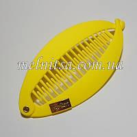 Заколка-банан, 12см, цвет желтый