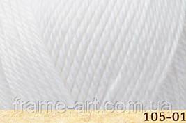 Фибра натура Люксор 50гр/120м 105-01 белый