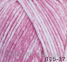 Гималая Деним 50г/140м 115-17 светло-розовый меланж