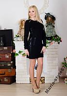 Стильное платье с молнией  р-ры  от 42  до 50