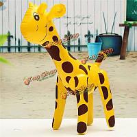 Надувные Жираф зоопарк животное взрывают надуйте подарка партии игрушки вечеринка у бассейна декора