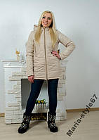 Куртка удлиненная женская, Размеры 42 _ 52-54