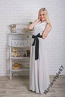 Длинное летнее женское платье. Размеры от 42 до 50
