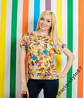 Женская летняя футболка . Размеры от 42 до 54