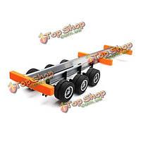 1:24 тяжелый автомобиль самосвал самосвал трактор задний мост полуприцеп ковш