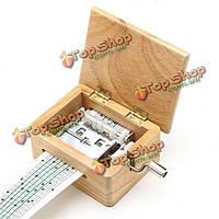 Поделки ручной коленчатые музыкальная шкатулка деревянная коробка с перфоратором и бумажных лент