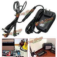 9В 1a 1000мА 6 ходового адаптер питания устройство педали гитарный эффект кабель