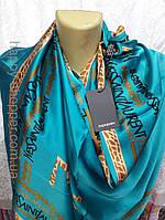 Шелковый брендовый шарф