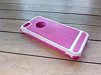 Чехол-накладка для iPhone 5/5s/SE pink-white