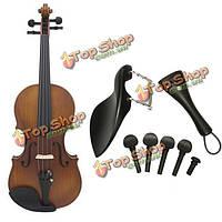 Скрипка части 1 комплект 7 черное дерево 4/4 скрипка Tailpiece колышки подбородник