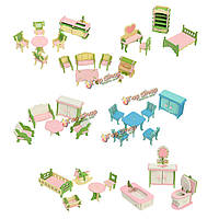 Деревянные поделки трехмерная головоломка кукольный набор мебели для барби