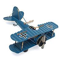 Большой ретро-синий самолет самолет модель самолета домашний декор орнамент игрушка 8.5''