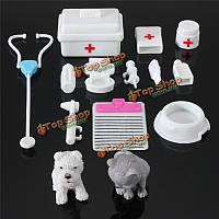 Новые 14pcs мини-игрушки медицинское оборудование для дома моды куклы аксессуары
