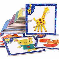Дети деревянные магнитные головоломки блоки рисования письменные настольные игрушки детей