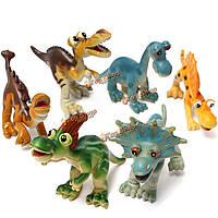 6 новых жестких пластиковых динозавр фигурки мультфильм животных комплект игрушки малыша детей