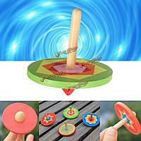 Деревянный классический маленький гироскоп волчок вертушка прядильные детей игрушки подарок 6см