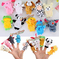 10X фермы зоопарка животных палец куклы игрушки мальчиков девочек партии игрушки