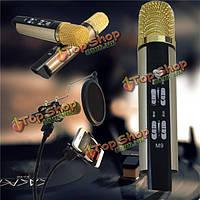 M9 конденсаторный микрофон микрофон компьютера записи мобильного телефона песни петь караоке
