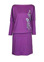 Оригинальное женское платье больших размеров, р 50 - 64 из трикотажа.
