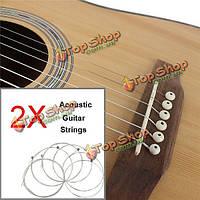 2 комплекта ИРИН A104 (.010-.047) серебро акустические гитарные струны