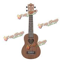 ИРИН 21 дюймов сапеле матовой форме сердца звук отверстие укулеле