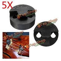 5шт двойное отверстий резиновые круглого мост практика скрипка немой для скрипки скрипки