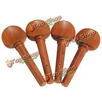 4шт деревянные настройка скрипка колышки запасную часть для 4/4 размера скрипки