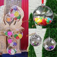 Шар декоративный подвесной пластмассовый 30шт 5мм