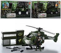 Набір військовий 718-16acd транспорт, солдат, , гелікоптер муз., світло, джип інерц., кор., 37