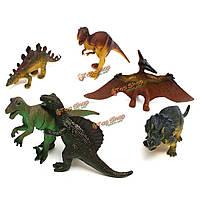 Динозавра возрасте 6 шт тиранозавр Стегозавр трицератопса модели дети игрушка